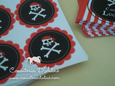 adesivos personalizados caveira piratas