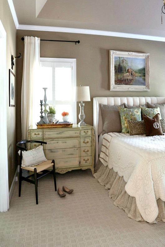 Savvy southern style french country master bedroom refresh for Southern style bedroom