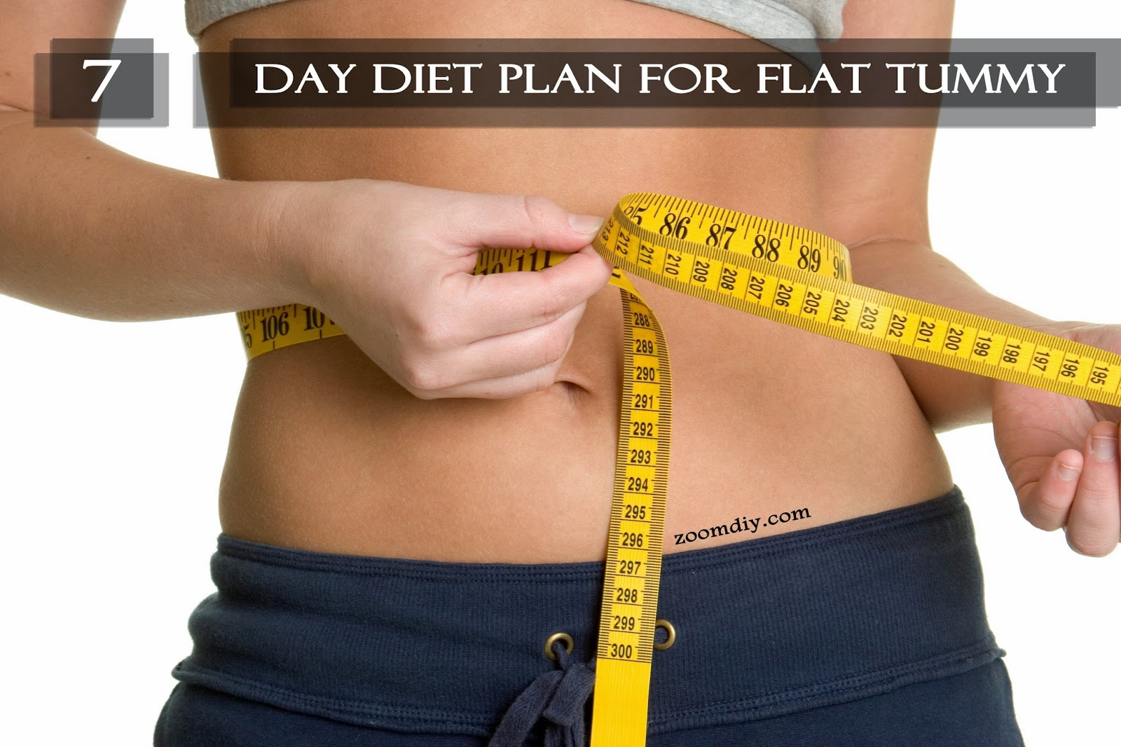 7 Day Diet Plan For Flat Tummy