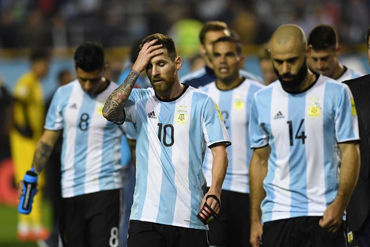 Hasil Kualifikasi Piala Dunia 2018, Argentina Terlempar dari Zona Play-off