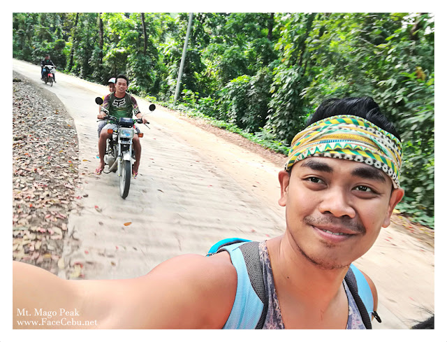 Selfie while riding a habal-habal