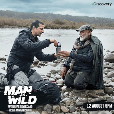 Man vs Wild ft PM Narendra Modi 12 August 2019 Hindi 720p HDTV Download