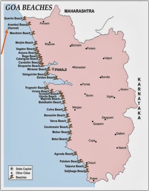 Arambol Beach Goa India Location Map,Location Map of Arambol Beach Goa India,Arambol Beach Goa India accommodation destinations attractions hotels map reviews photos pictures,arambol beach huts shacks resorts party guest house