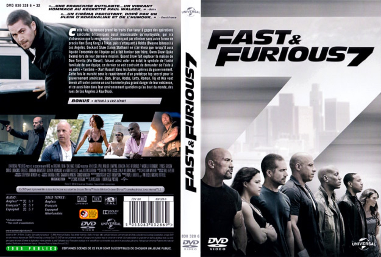 jaquette dvd jaquette dvd fast furious 7. Black Bedroom Furniture Sets. Home Design Ideas