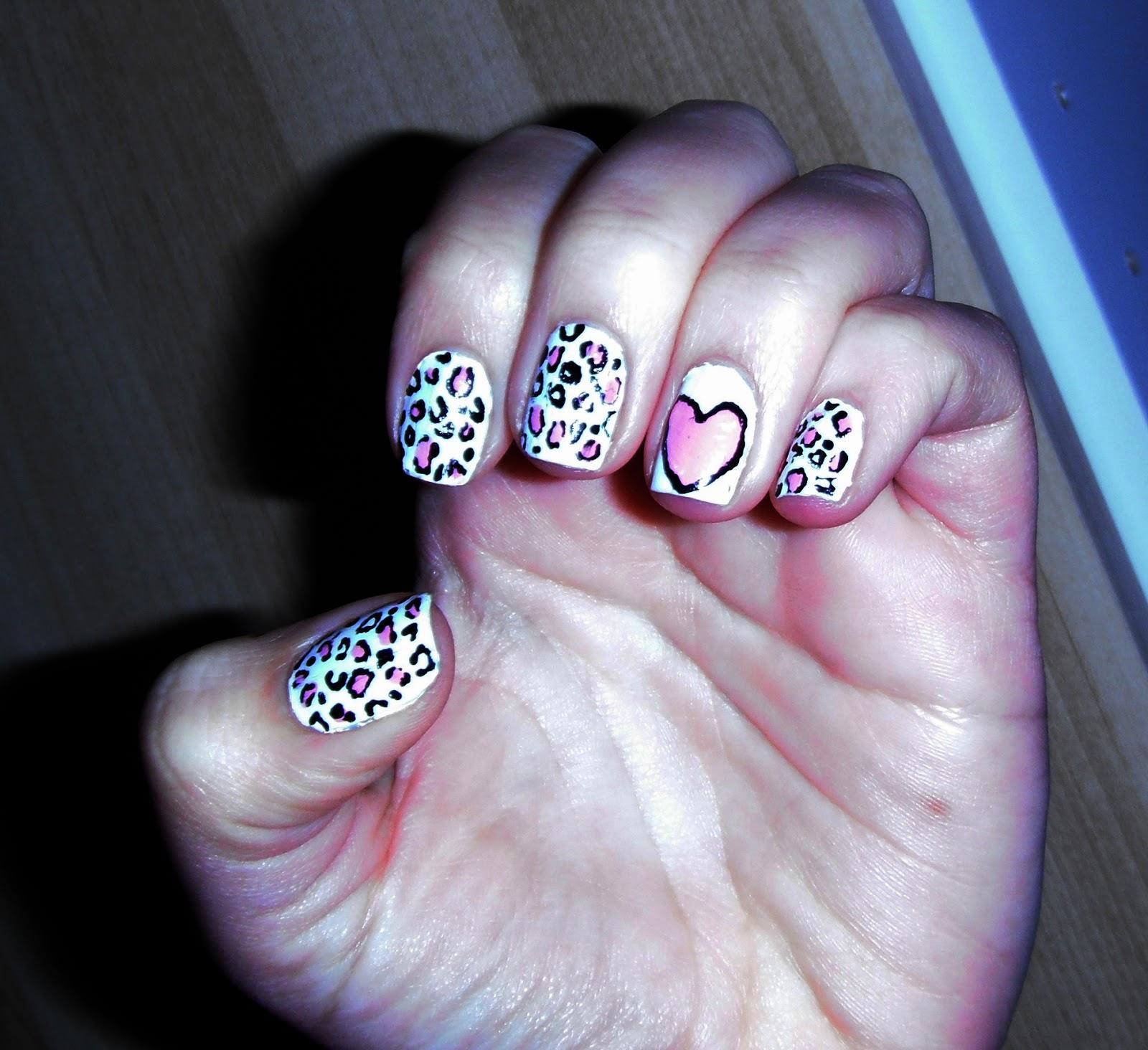 Mil Diseños De Uñas Uñas De Leopardo Rosa