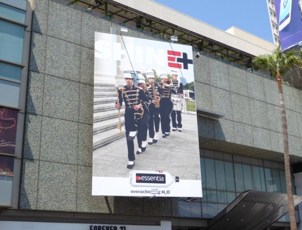 Essentia water Marching band billboard