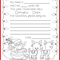 Free christmas printables for kids totschooling toddler letter to santa spiritdancerdesigns Images