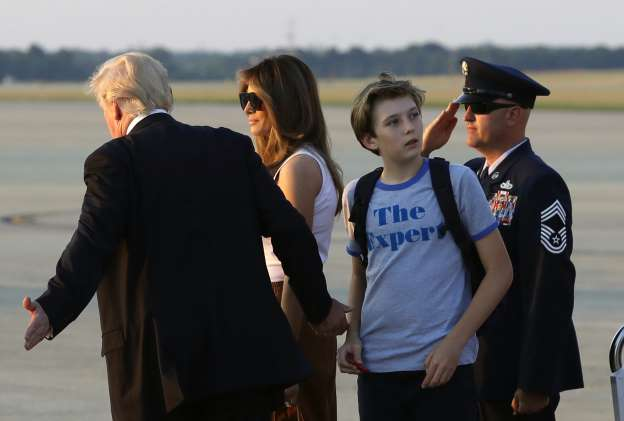 Melania Trump, son Barron move into the White House