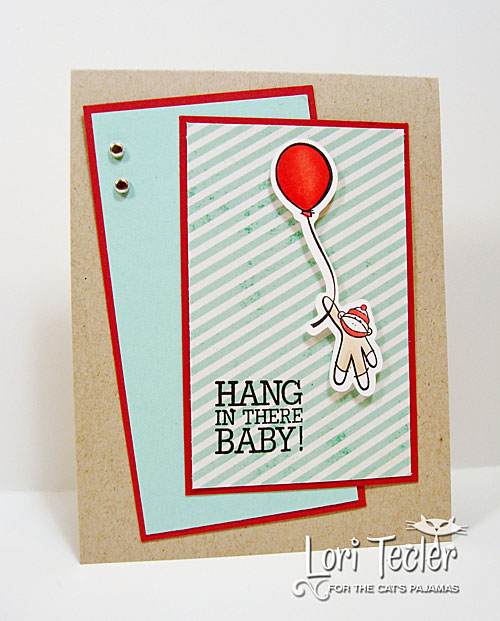 Hang in There Baby card-designed by Lori Tecler/Inking Aloud-stamps from The Cat's Pajamas