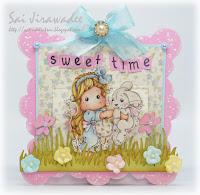 Magnolia Tilda Inez Bunny Slider Pop Up Card