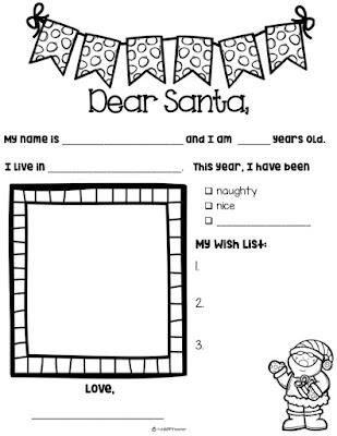 Slide2 Dear Santa Letter Template Printable Kindergarten on stationery free, black free,