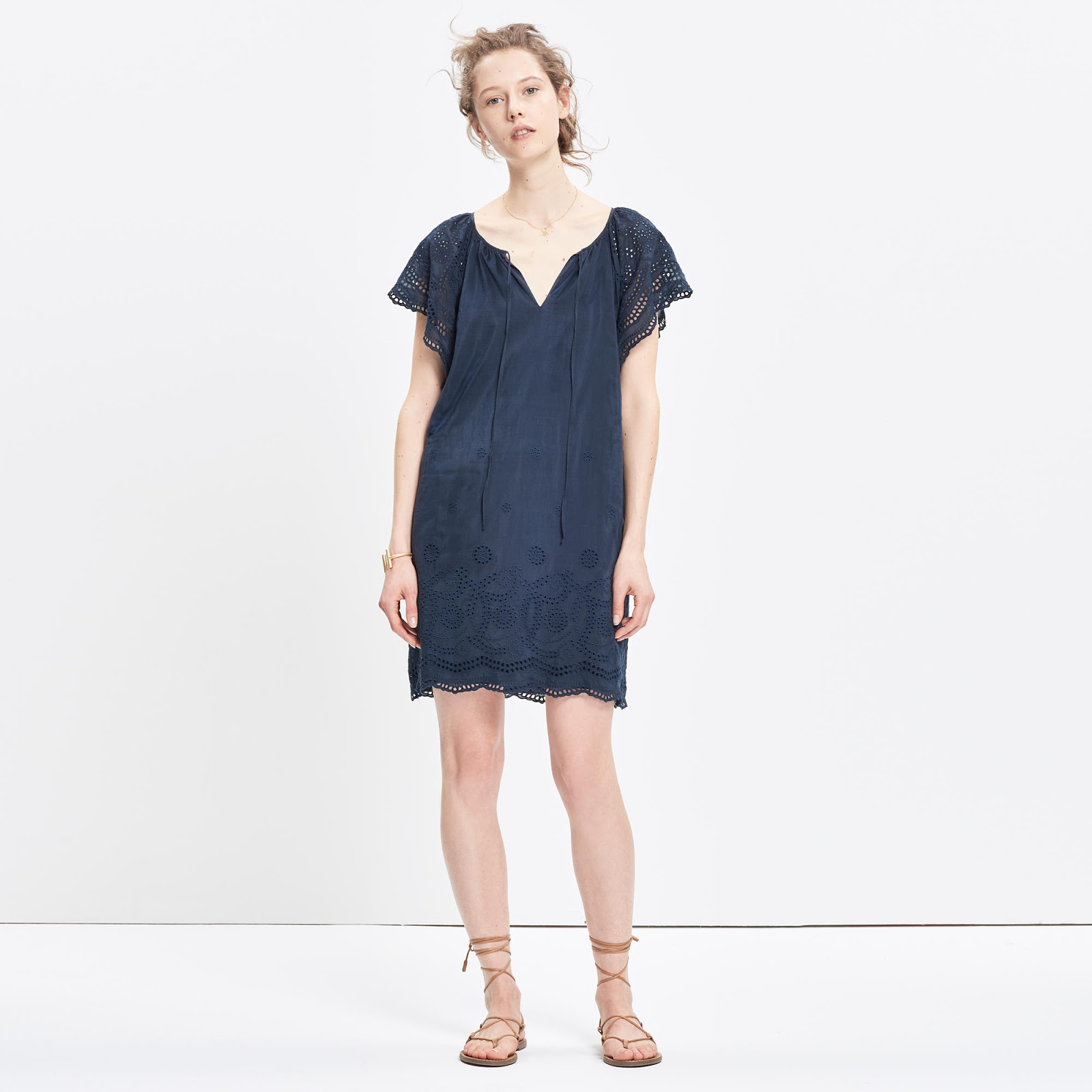 Madewell embroidered eyelet dress