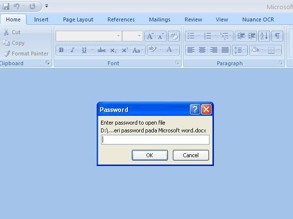 Cara membuat password pada Microsoft word Cara Bikin Password Pada Dokumen Word 2007 & 2010