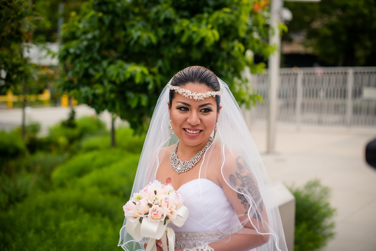Beautiful Bride So Happy On Her Big Day.