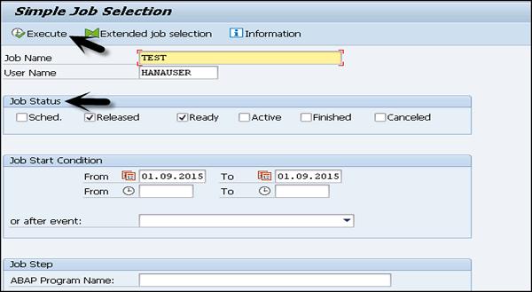 SAP Basis Unscheduling a Background Job | SAP Online Guides