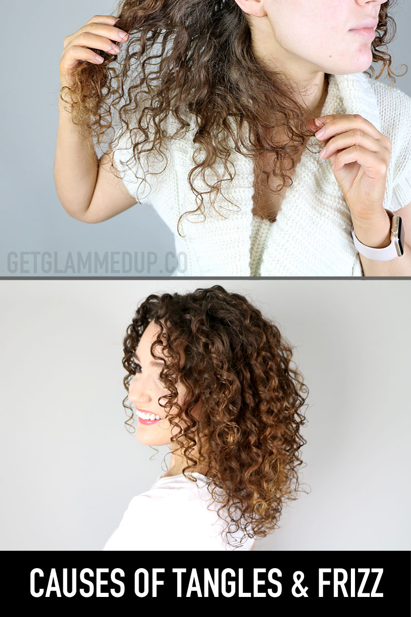 Causes of Tangles & Frizz in Curly Hair