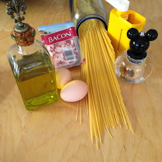 Spaghetti Carbonara, ingredientes