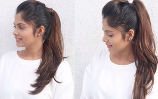 How To : Long Ponytail With Puff Without Extension | Long Ponytail Trick In 2 Min