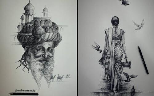 00-Ballpoint-Pen-Drawings-Meher-www-designstack-co