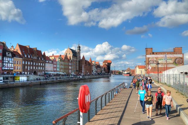 centrum miasta Gdańsk i żuraw