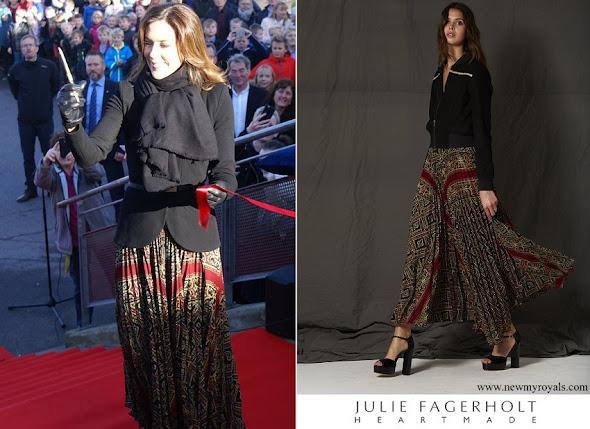 Crown Princess Mary wore Julie Fagerholt Heartmade Skirt