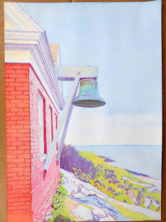 """Bell House At Pemaquid Light Station"" - Watercolor by Paul Sherman"