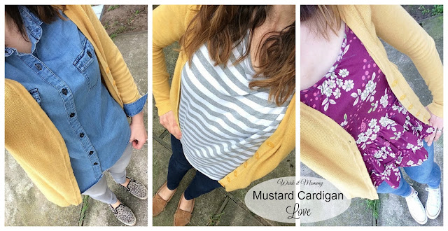How to wear a mustard cardigan