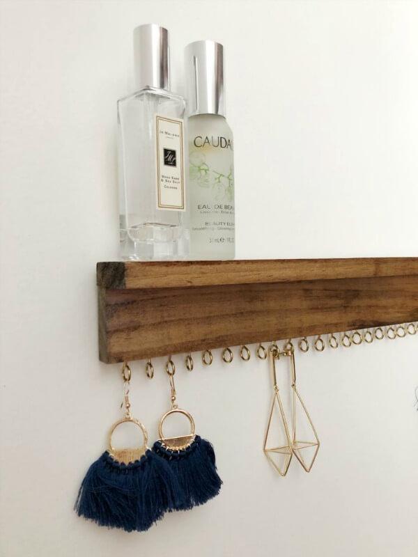 modern farmhouse earring display DIY