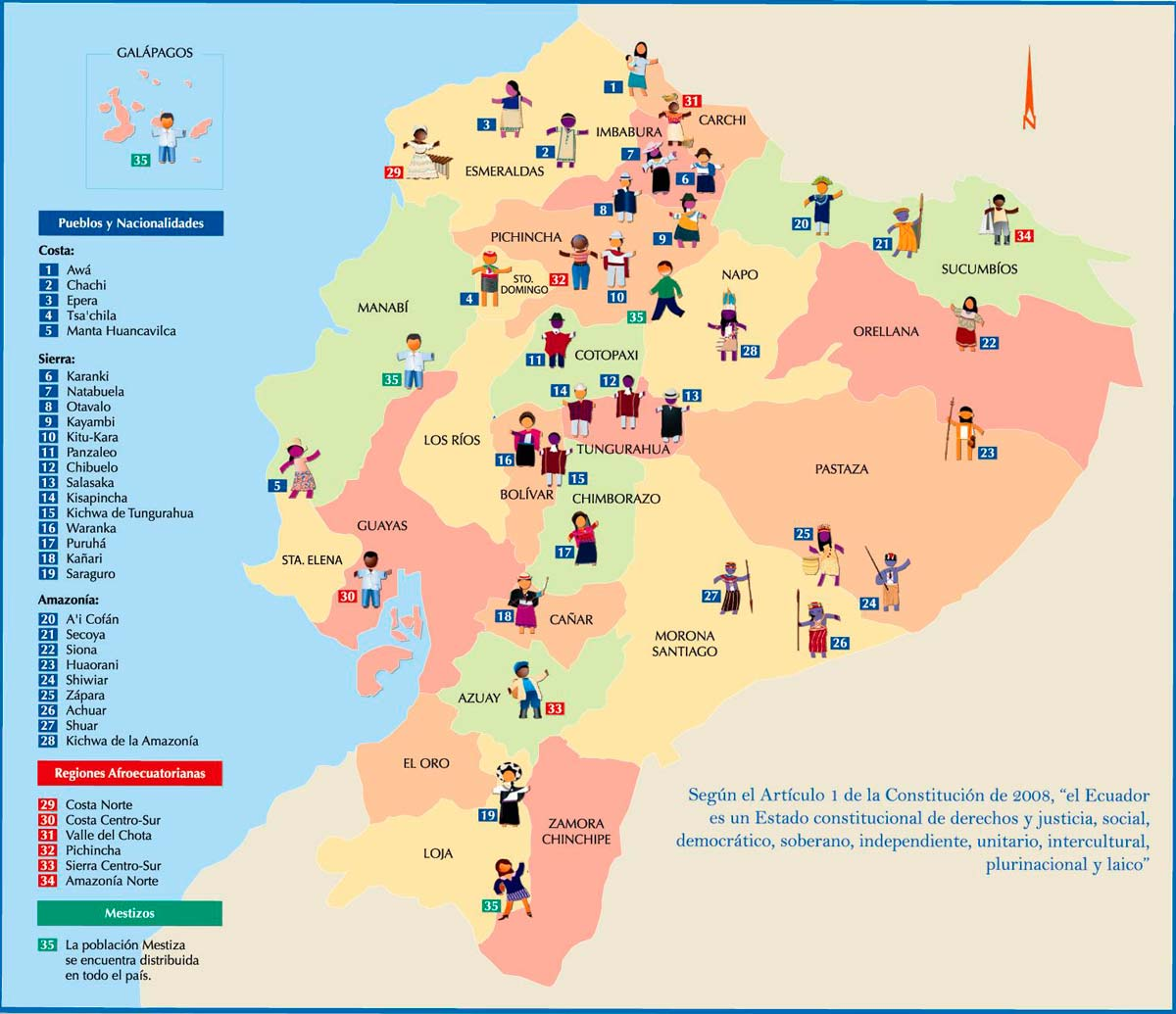 Mapa Del Ecuador Por Lenguas Mapa Del Ecuador Por Lenguas