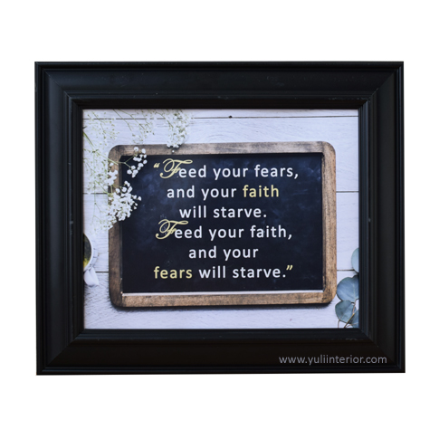 Christian Inspirational Quote on Fear Wall Frames in Port Harcourt Nigeria.