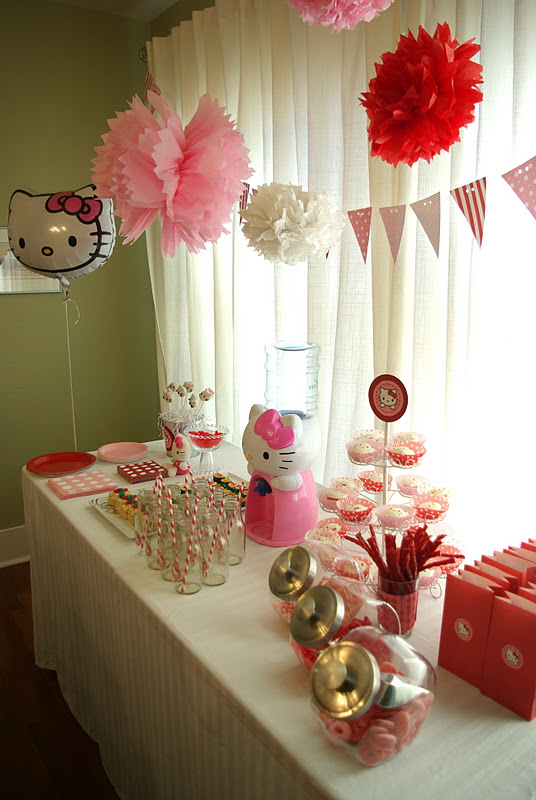 Hello Kitty Birthday Party Cake and Favors Oleander Palm