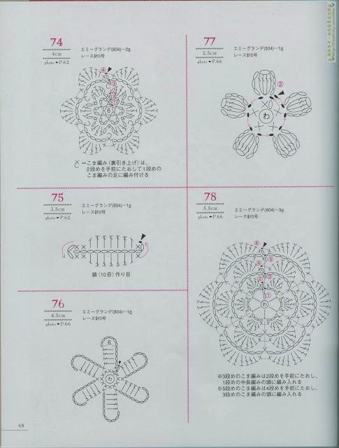 Centrinho e Flores de Crochê Com Gráfico