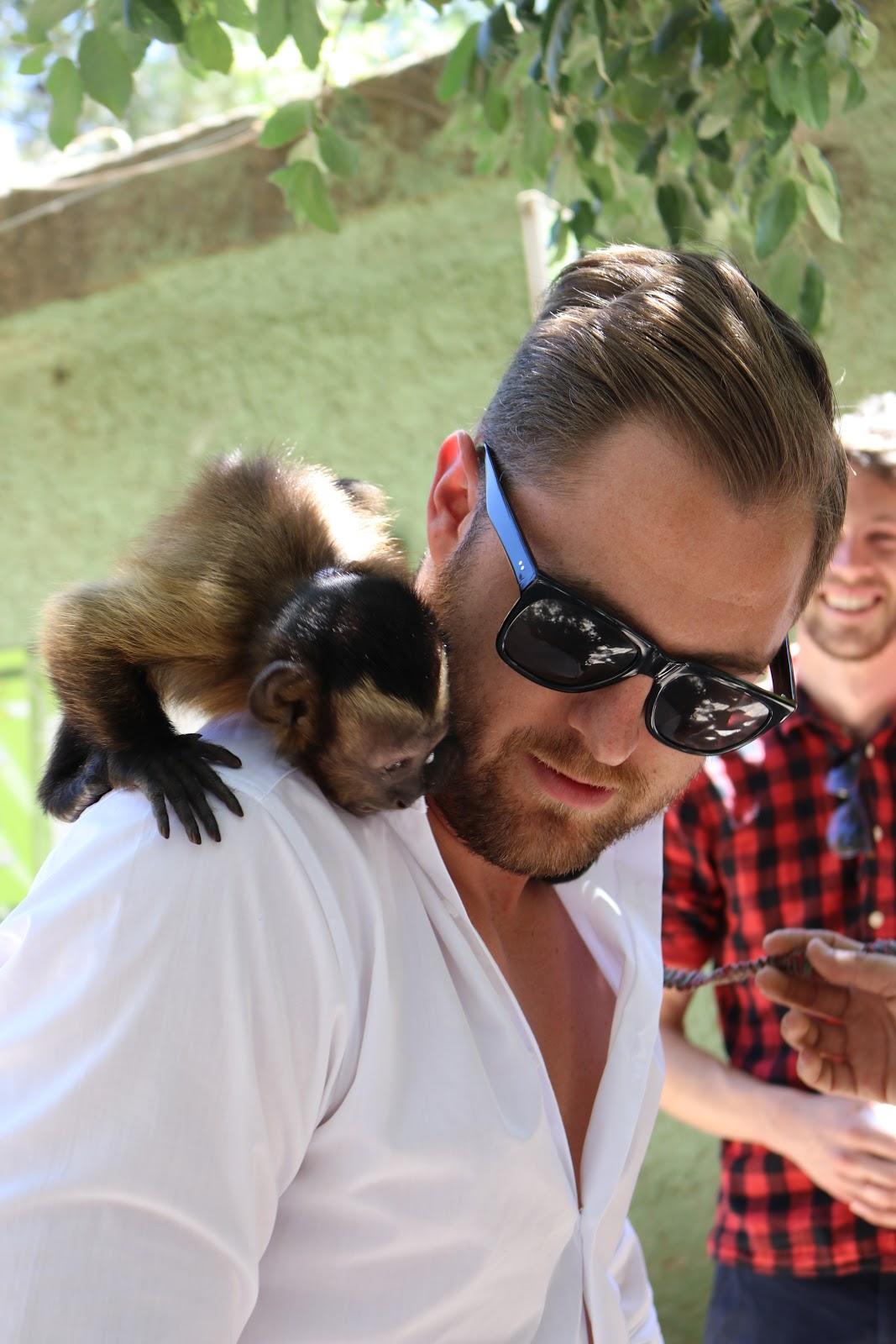 Ben Heath, Twenty First Century Gent with a monkey in Zoo De Castellar, Spain