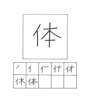 kanji tubuh