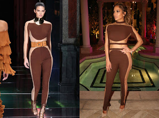 Jennifer Lopez and kendall Jenner similar outfits