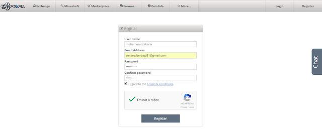 Pendaftaran situs market cryptopia