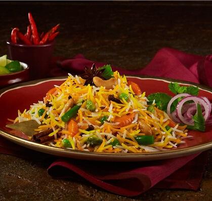 Easy Saffron Rice with Peas