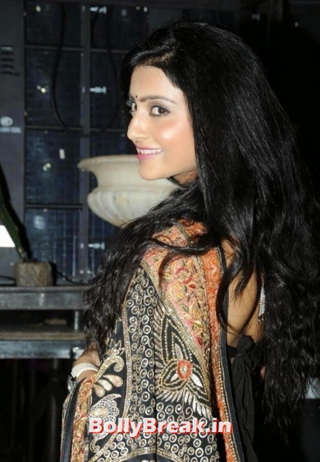 , Avanthika Pics in Shoulderless Blouse & Saree  At Maya Movie Audio Launch