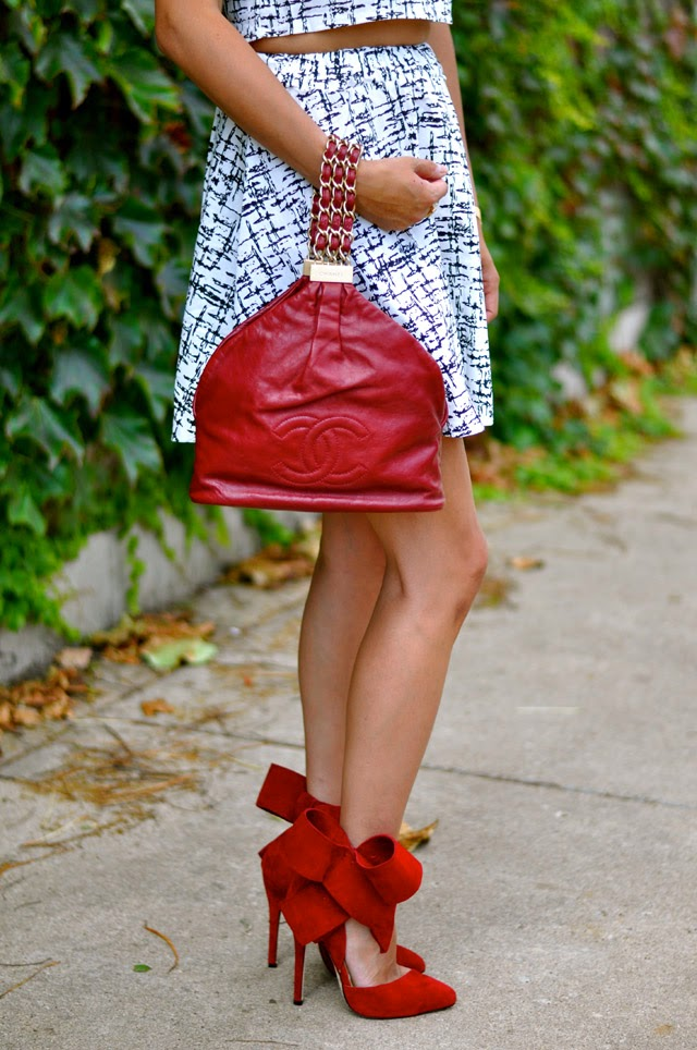 Chanel Bag and Red Bow Pump