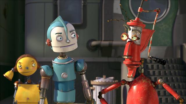 Otro render en 3D de la película Robots con los personajes Rodney, Piper y Fender