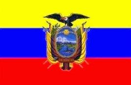 Dibujo de la bandera del Ecuador a color