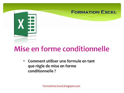 comment utiliser une formule en tant que règle de mise en forme conditionnelle