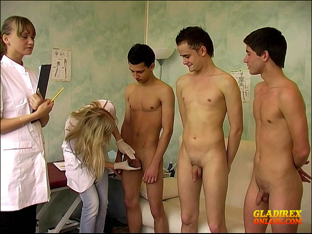Asian military physical exam gay he had