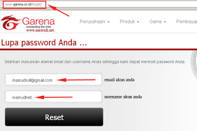 Lupa Password PB FO3 Garena Indonesia