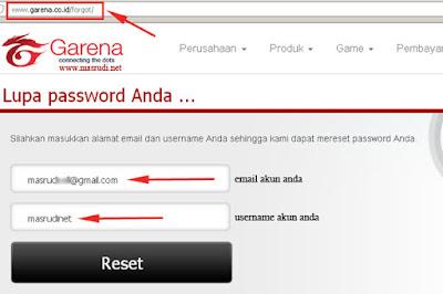 Lupa Password PB FO3 Garena Indonesia