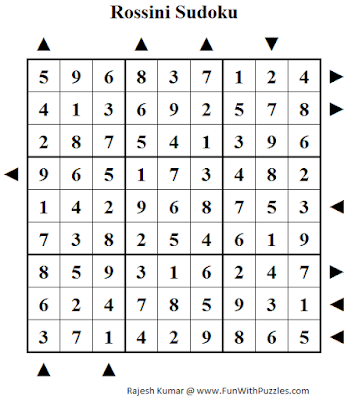 Answer of Rossini Sudoku (Fun With Sudoku #105)