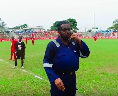 Jay jay okocha at the Copa Coca-Cola Nigeria 2016 finals