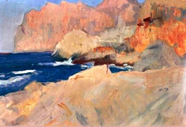Joaquín Sorolla y Bastida, Cala San Vicente, Mallorca en Pintura, Mallorca pintada, Paisajes de Mallorca