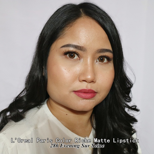 Lip Swatch L'oreal Matte Lipstick Evening Sur Seine