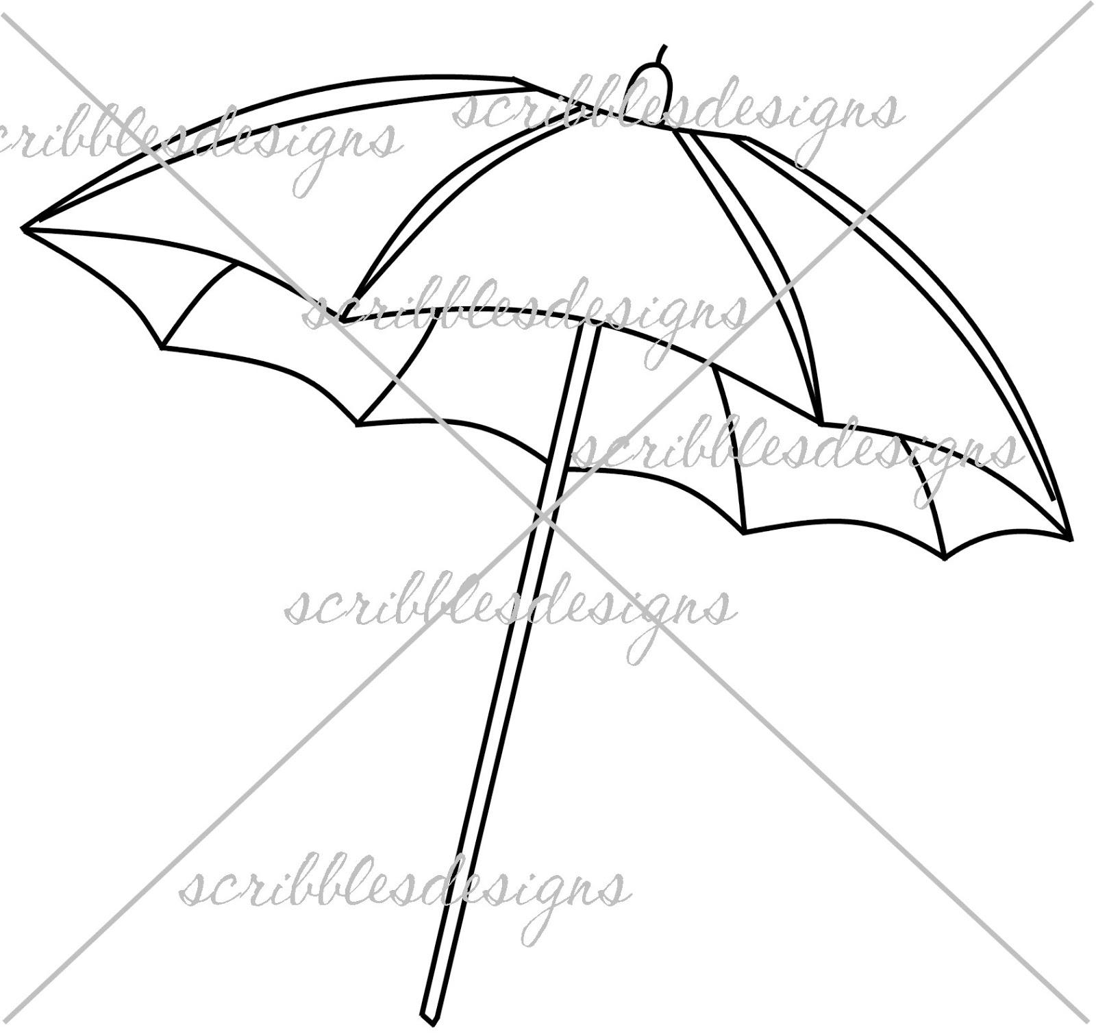 Scribbles Designs 846 Beach Umbrella 3 00